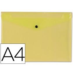 Carpeta liderpapel dossier broche 34041 polipropileno din a4 amarilla transparente 50 hojas