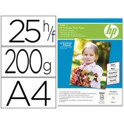 Papel hp fotografico satinado everyday-a4- -25 hojas- -200g/m2- 210x297mm