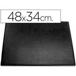 Vade sobremesa plastico 250 negro con bolsa interior 48x34 cm