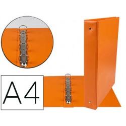 Carpeta de 4 anillas 40 mm mixtas liderpapel a4 carton forrado pvc naranja