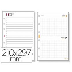 Recambio agenda finocam 4000 anualidad dia pagina 210x297 mm texto en catalan