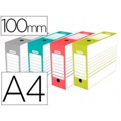 Caja archivo definitivo elba din a4 lomo 100 mm colores surtidos 287x372x100 mm
