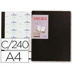 Carpeta liderpapel clasificado r de tarjetas polipropileno din a4 para 240 tarjetas color negro