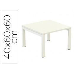 Mesa modular recepcion paper-flow tapa color blanca 400x600x600 mm