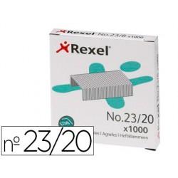 Grapas rexel 23/20 acero caja 1000 unidades