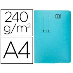 Subcarpeta cartulina elba din a4 con solapa y bolsa pack de 25 unidades azul pastel 240 gr
