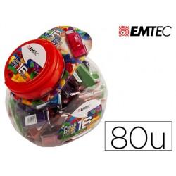 Memoria usb emtec flash 16gb 2.0 bombonera 80 unidades colores surtidos