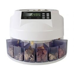 Contador y clasificador de monedas safescan 1250eur velocidad 200 monedas / minuto capacidad 500 monedas