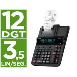 Calculadora casio impresora pantalla digitron papel 58 mm impresion bicolor fr-620re 12 digitos dc color negro