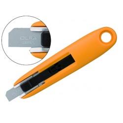 Cuter olfa mini plastico cuchilla ancha 12,5 mm retractil apto para zurdos