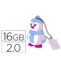 Memoria usb emtec flash 16 gb 2.0 pinguino