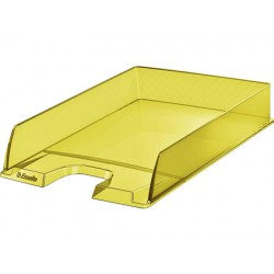 Bandeja sobremesa esselte plastico colour ice color amarillo 254x61x350 mm