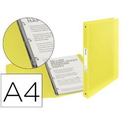 Carpeta esselte 4 anillas 25 mm din a4 colour ice polipropileno color amarillo