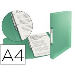 Carpeta esselte 2 anillas 25 mm din a4 colour ice polipropileno color verde