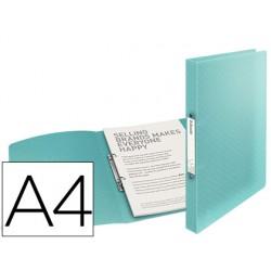 Carpeta esselte 2 anillas 25 mm din a4 colour ice polipropileno color azul