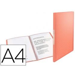 Carpeta esselte escaparate colour ice 40 fundas polipropileno din a4 color albaricoque