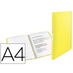Carpeta esselte escaparate colour ice 40 fundas polipropileno din a4 color amarillo
