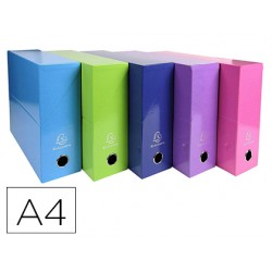 Caja transferencia exacompta iderama din a4 lomo 90 mm colores surtidos