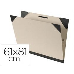 Carpeta dibujo canson brut 61x81 cm con gomas color kraftclaro
