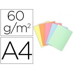 Subcarpeta cartulina exacompta din a4 paquete de 100 unidades colores pastel surtidos 60 gr