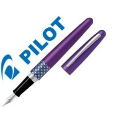 Pluma pilot urban mr retro pop violeta con estuche y bolsa
