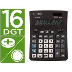 Calculadora citizen sobremesa business line eco eficiente solar y pilas 16 digitos 200x157x35 mm