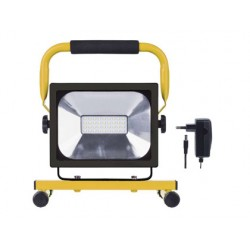 Foco portatil sunmatic led emos 160w 1500 lumenes 6500 kelvink 2,5 horas bateria li-ion 4400mah cargador