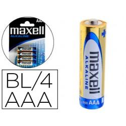 Pila maxell alcalina 1.5 v tipo aaa lr03 blister de 4 unidades