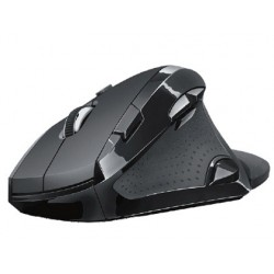 Raton trust optico 2400 dpi inalambrico vergo ergonomico 9 botones usb 2.0 negro