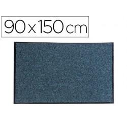 Alfombra para suelo paperflow texturizado antipolvo ecologica material reciclado gris 90x150 cm