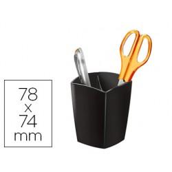 Cubilete portalapices cep magnetico negro 78x74x95 mm