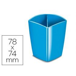 Cubilete portalapices cep magnetico azul 78x74x95 mm