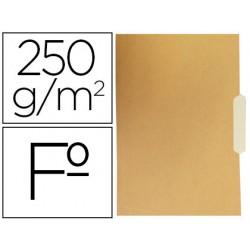 Subcarpeta cartulina gio folio pestaña central 250g/m2 bicolor