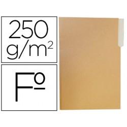 Subcarpeta cartulina gio folio pestaña izquierda 250g/m2 bicolor