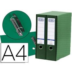 Modulo elba 2 archivadores de palanca din a4 con rado 2 anillas verde lomo de 80 mm