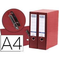 Modulo elba 2 archivadores de palanca din a4 con rado 2 anillas rojo lomo de 80 mm