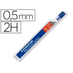 Minas staedtler mars micro grafito 0,5 mm 2h tubo con 12 unidades