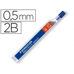 Minas staedtler mars micro grafito 0,5 mm 2b tubo con 12 unidades
