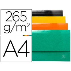 Subcarpeta cartulina lustrada con bolsa exacompta iderama din a4 colores surtidos 265 gr