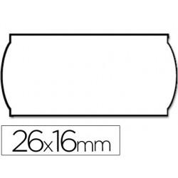 Etiquetas meto onduladas 26 x 16 mm lisa removible bl. -rollo 1200 etiquetas