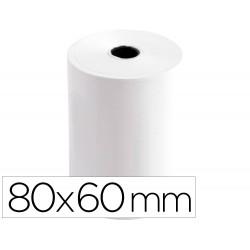 Rollo sumadora termico q-connect 80 mm ancho x 60 mm diametro sin bisfenol a
