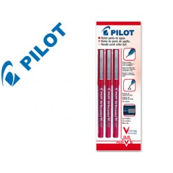 Rotulador pilot punta aguja v-5 rojo 0.5 mm blister de 3 unidades-m