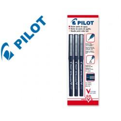 Rotulador pilot punta aguja v-5 negro 0.5 mm blister de 3 unidades-m