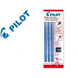 Rotulador pilot punta aguja v-5 azul 0.5 mm blister de 3 unidades-m