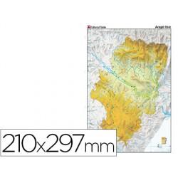 Mapa mudo color din a4 aragon fisico