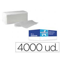 Toalla de papel secamanos amoos engarzada 2 capas 21x22 cm caja de 4000 unidades