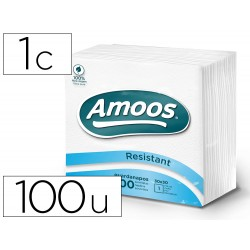 Servilleta celulosa amoos 30x30 cm 1 capas paquete de 100 unidades