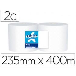 Papel secamanos industrial amoos 2 capas 235 mm x 400 mt paquete de 2 rollos