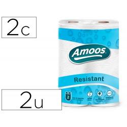 Papel de cocina amoos 21g/m2 ancho 240 mm largo 10 mt 2 capas paquete de 2 rollos