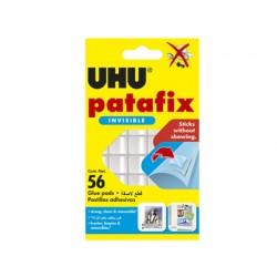 Sujetacosa uhu patafix transparente blister de 56 unidades